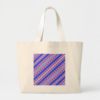 Red White Blue Patriotic Patern Canvas Bag