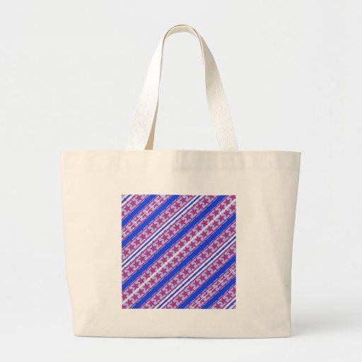 Red, White & Blue Patriotic Patern. Canvas Bag