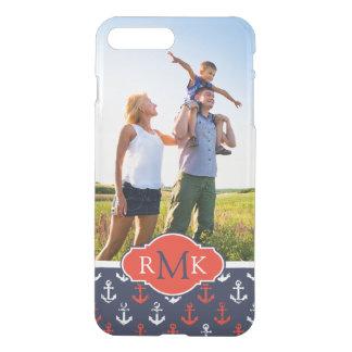 Red White & Blue Pattern| Your Photo & Monogram iPhone 8 Plus/7 Plus Case