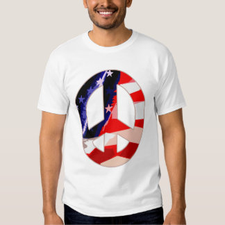 Red White & Blue Peace Sign t-shirt