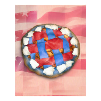 Red White Blue Pie on Old Glory Full Color Flyer
