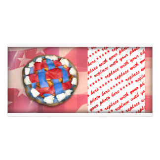 Red White & Blue Pie on Old Glory Picture Card