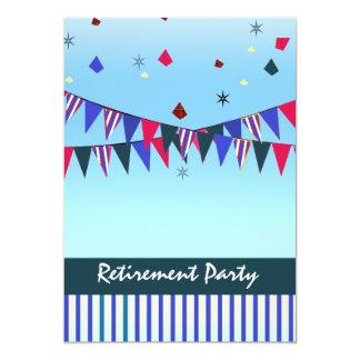 Red White Blue Retirement Party 13 Cm X 18 Cm Invitation Card