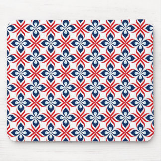 Red, White, & Blue Retro Style Mouse Pad