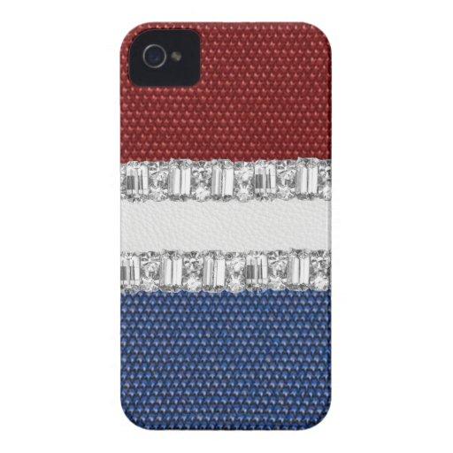 Red White & Blue Rhinestone Blackberry Iphone Case Blackberry Bold Cases