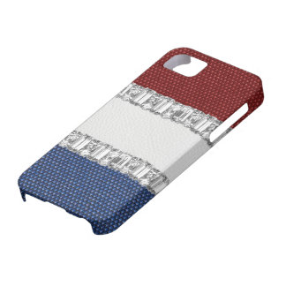 Red White & Blue Rhinestone iPhone4 Case Barely There iPhone 5 Case