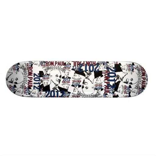 Red, White, & Blue Ron Paul Revolution 2012 Skate Boards