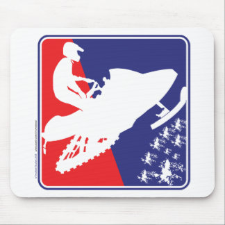 red-White-Blue-Sled-zazzle Mouse Pad