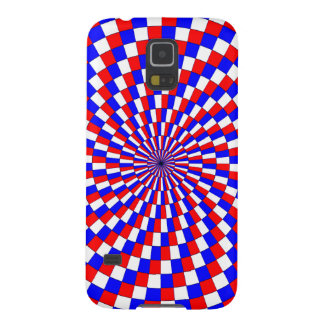 Red White Blue Spiral Galaxy S5 Cover