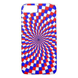 Red White Blue Spiral iPhone 7 Case