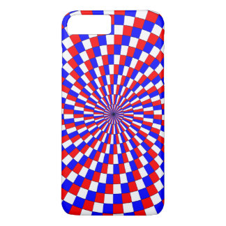 Red White Blue Spiral iPhone 7 Plus Case