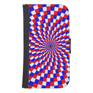 Red White Blue Spiral Phone Wallet Cases