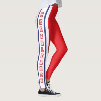 Red, White & Blue Sport Jersey Stripe - DIY Text Leggings