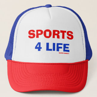 red white blue sports 4 life hat limited edition