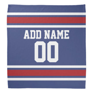 Red, White Blue Sports Jersey Custom Name Number Bandannas
