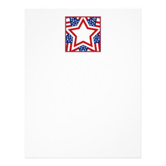 Red White Blue Star Design to Add Text Flyer