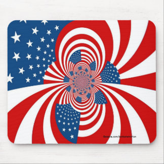 red white blue stars and stripes mouse mat