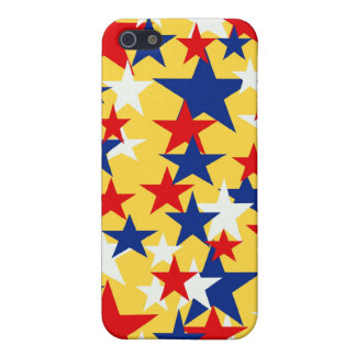 Red White Blue Stars I-pod Touch Case iPhone 5 Cover