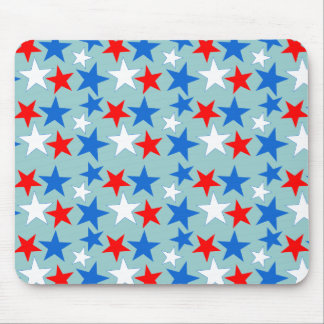 Red White & Blue Stars Mouse Pad