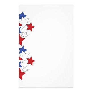 Red, White & Blue stars stationary Stationery Design