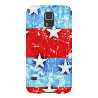 Red White Blue Stars Stripes Galaxy S5 Covers