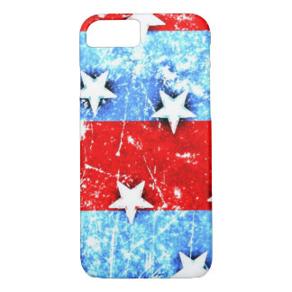 Red White Blue Stars Stripes iPhone 7 Case