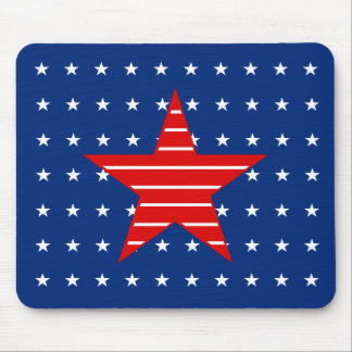 Red white & blue, Stars & Stripes Mousepad