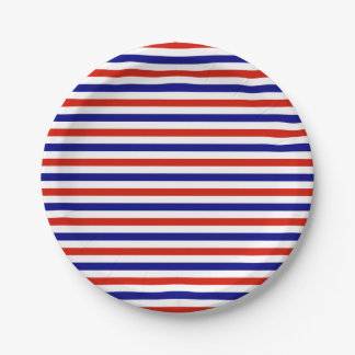 Red White Blue Striped Paper Plates 7 Inch Paper Plate