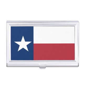 Red White Blue Texas Flag Business Card Cases