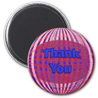 Red White Blue Thank you Fridge Magnets