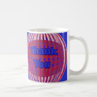 Red White Blue Thank you Mugs