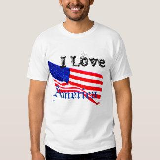 Red White & Blue USA Flag Patriotic Liberty Tshirt
