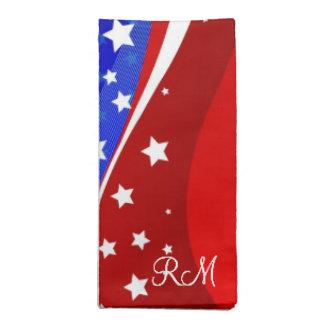 Red White & Blue - USA Flag Stars And Stripes Napkin