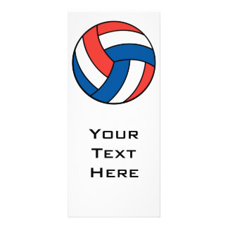 red white blue volleyball custom rack cards