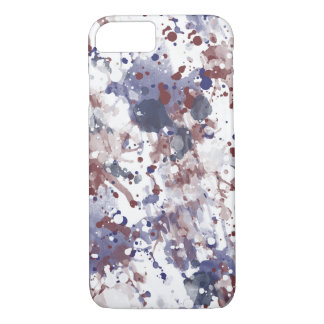 Red White Blue Watercolor Abstract iPhone 7 Case
