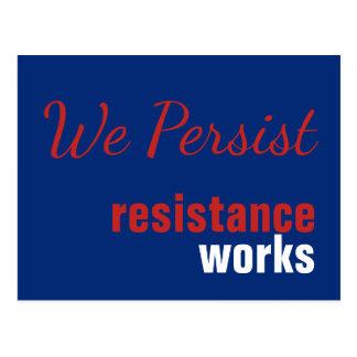 Red White Blue We Persist Resistance Works Postcard