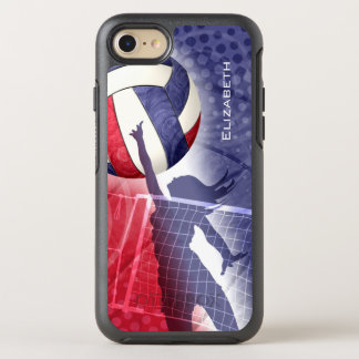 red white blue women's volleyball OtterBox symmetry iPhone 8/7 case