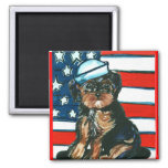 Red,White & Blue Yorkie Poo Magnets