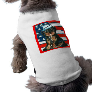 Red,White & Blue Yorkie Poo Sleeveless Dog Shirt