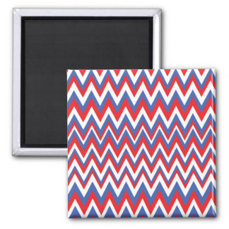 Red White & Blue Zig Zag Pattern Magnet