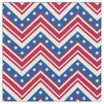 Red White Blue Zigzag Chevron - Large Size Fabric