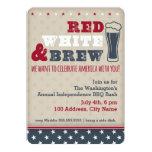 Red, White & Brew 13 Cm X 18 Cm Invitation Card