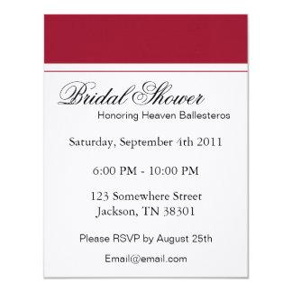 Red & White Bridal Shower Invitations