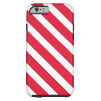 Red White Candy Cane Stripe Holiday Christmas Tough iPhone 6 Case