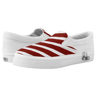 Red & White Candy Stripe Slip On