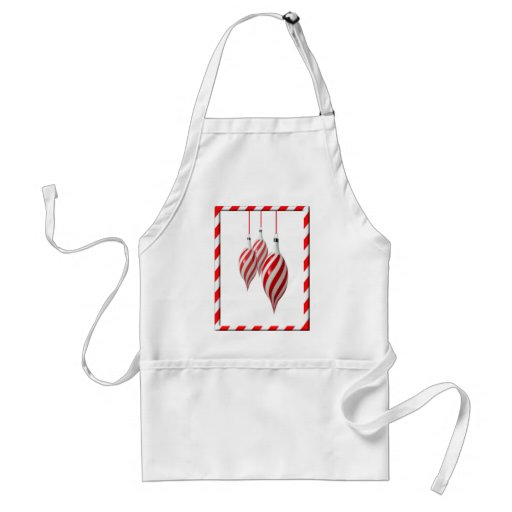 RED & WHITE CANDY STRIPES by SHARON SHARPE Aprons