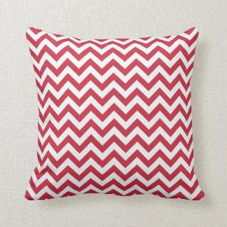 Red White Chevron Pattern Cushion