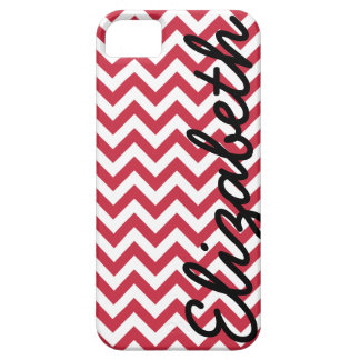 Red White Chevron Pattern iPhone 5 Cover