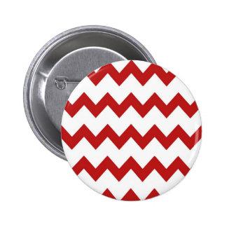 Red White Chevrons Button