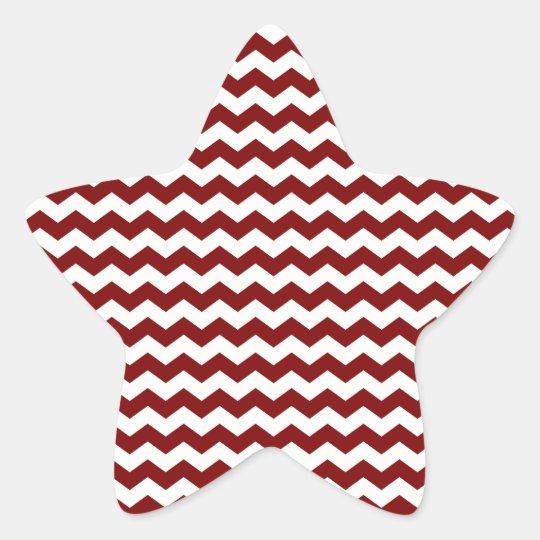 Red white chevrons star sticker